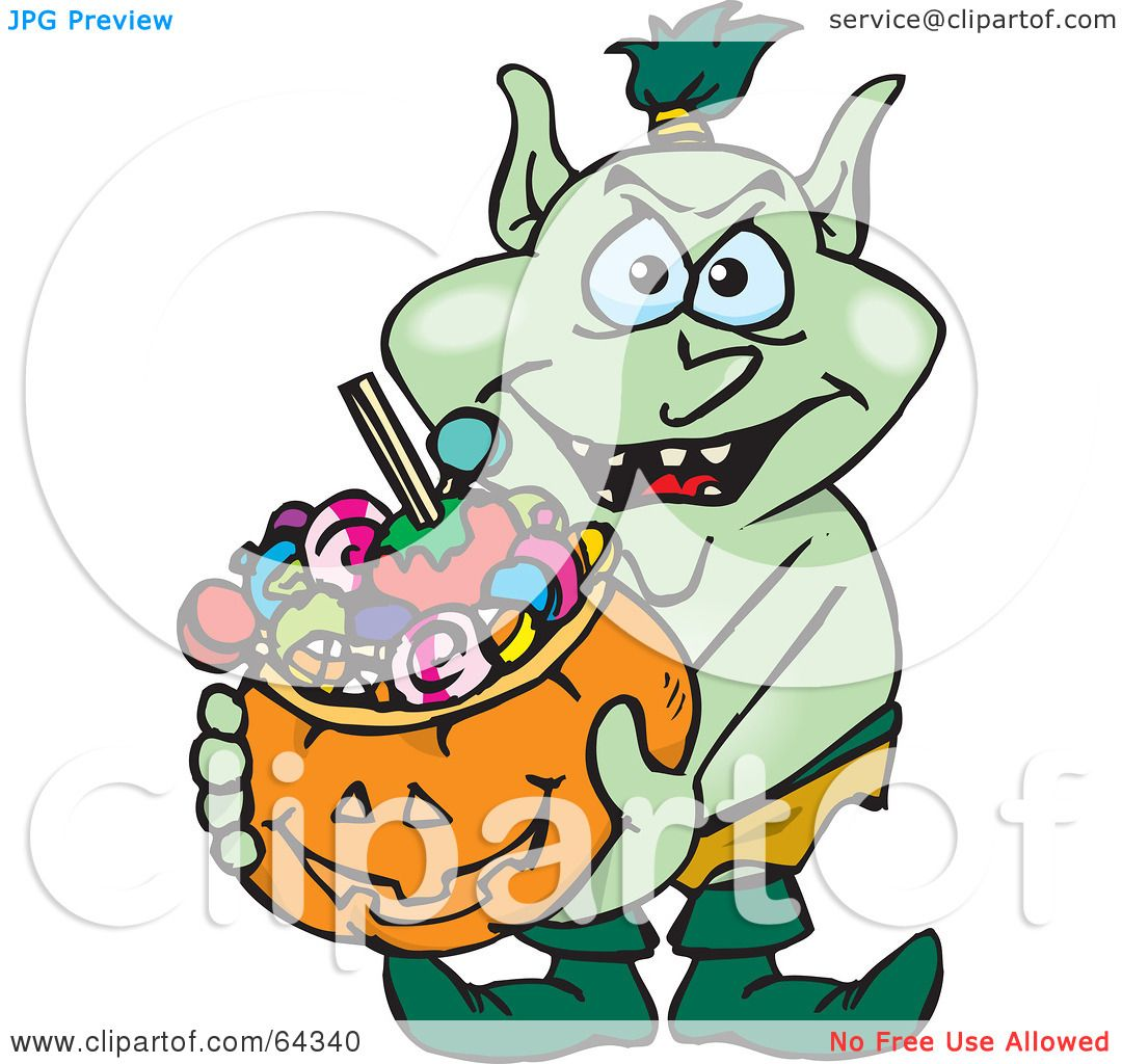 1080x1024 Royalty Free (Rf) Clipart Illustration Of A Trick Or Treating