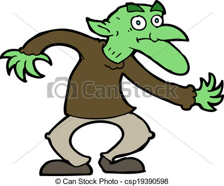 450x374 Cartoon Goblin Eps Vectors