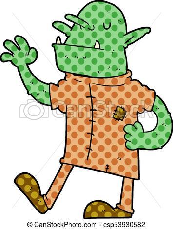 355x470 Cartoon Goblin Vector