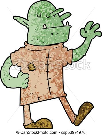 355x470 Cartoon Goblin Vectors Illustration
