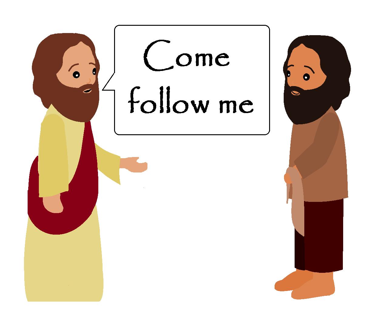 1292x1092 Clipart Jesus Follow Me Clipartfest