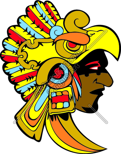 391x500 Aztec Clipart Aztec God