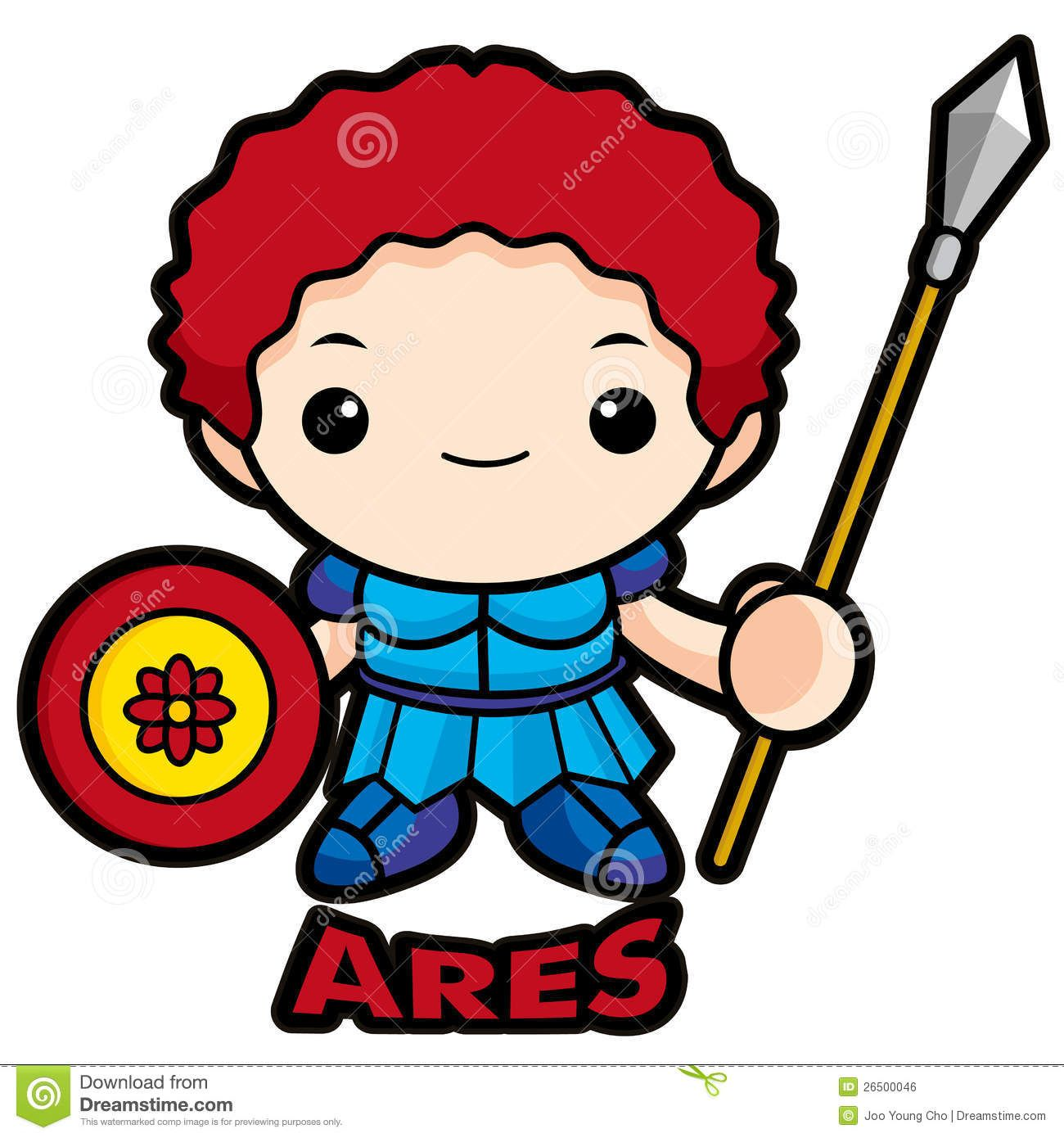 1300x1390 God Of War Ares Royalty Free Stock Image