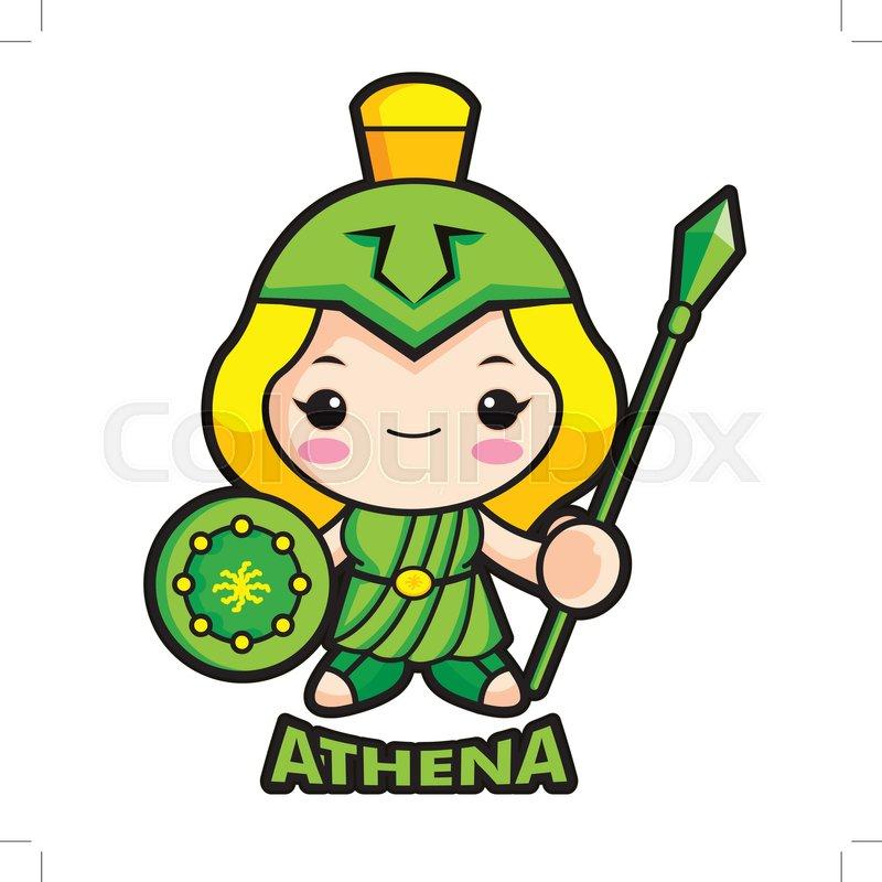 800x800 Goddess Of War Athena Character. Olympus God Isolated Athene