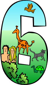 168x296 Creation Day 6 Number Clip Art