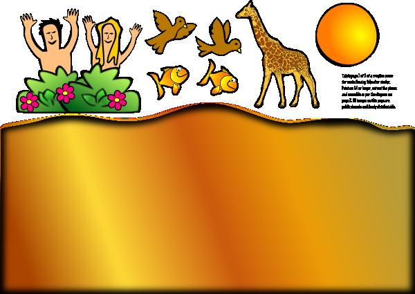 600x425 Creation Scene Giraffe Clip Art