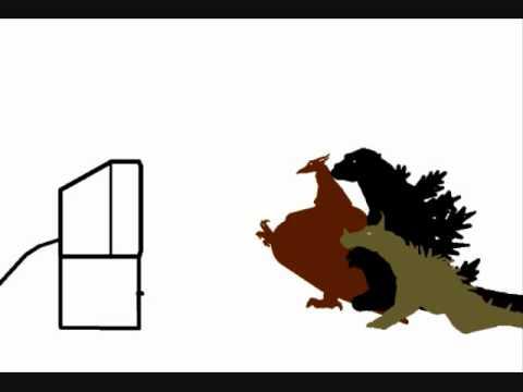 480x360 What Happens When Destoroyah Pranks Godzilla