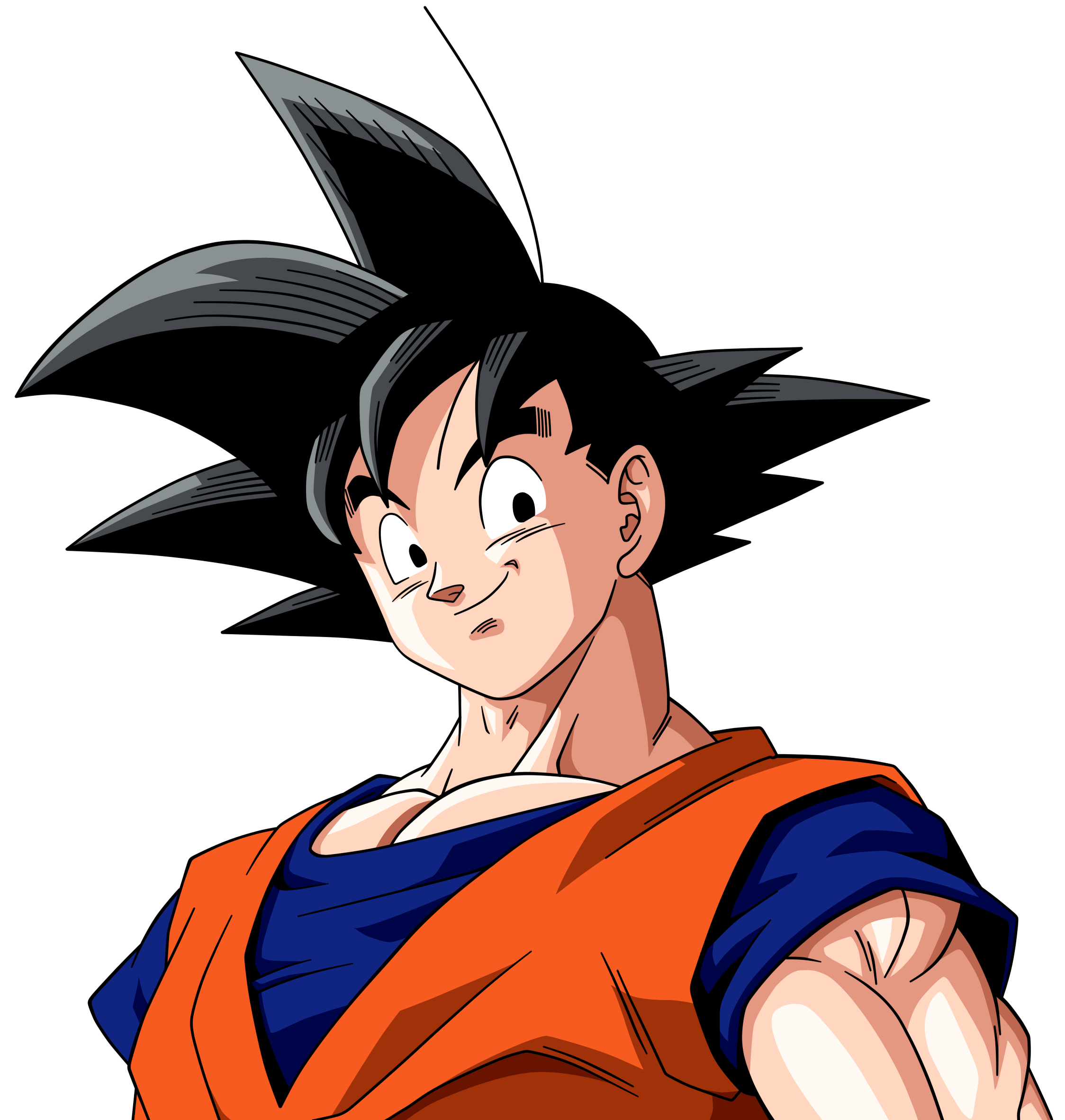 2248x2363 Goku Face Transparent Png