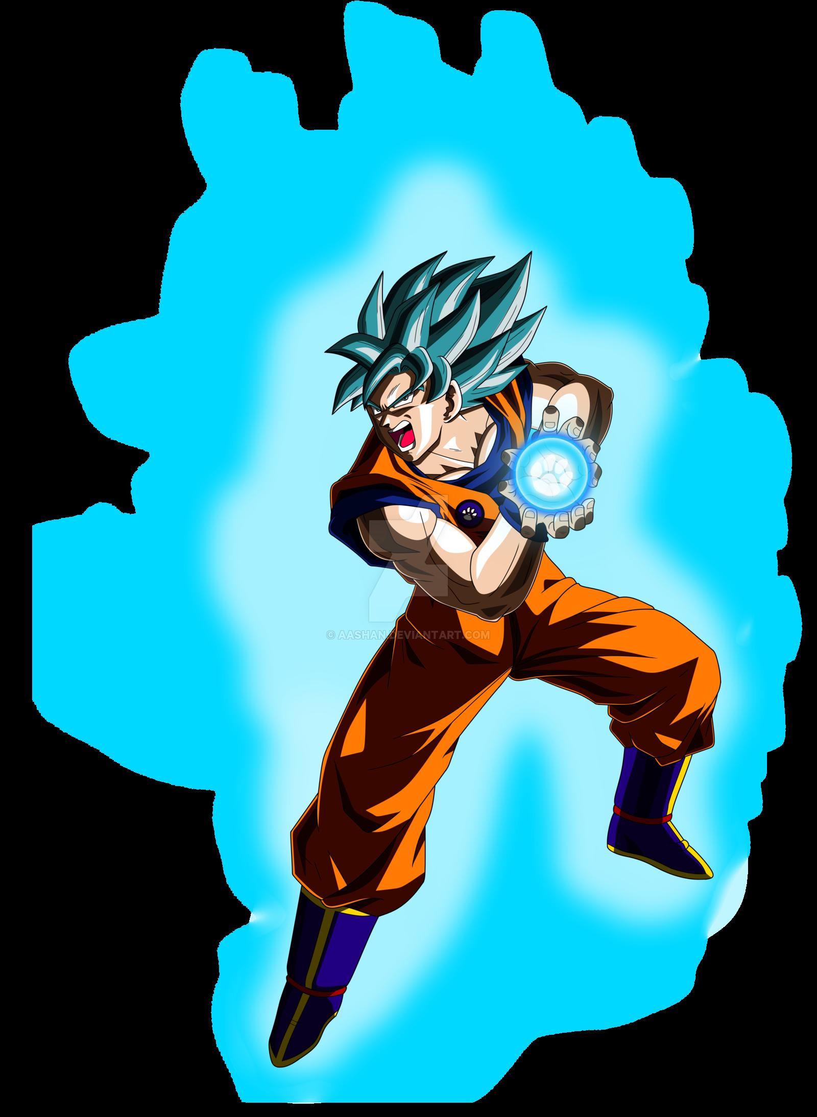 1600x2187 Goku Super Saiyan Blue Kamehameha Pose By Aashananimeart