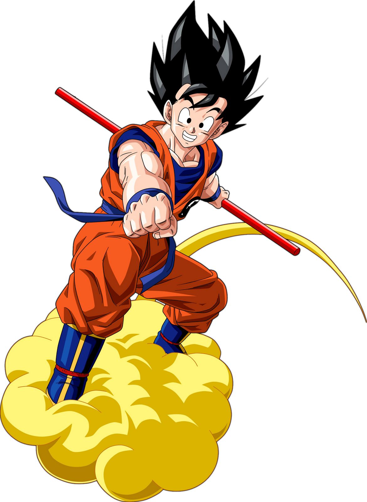 1170x1600 Goku On Cloud Transparent Png