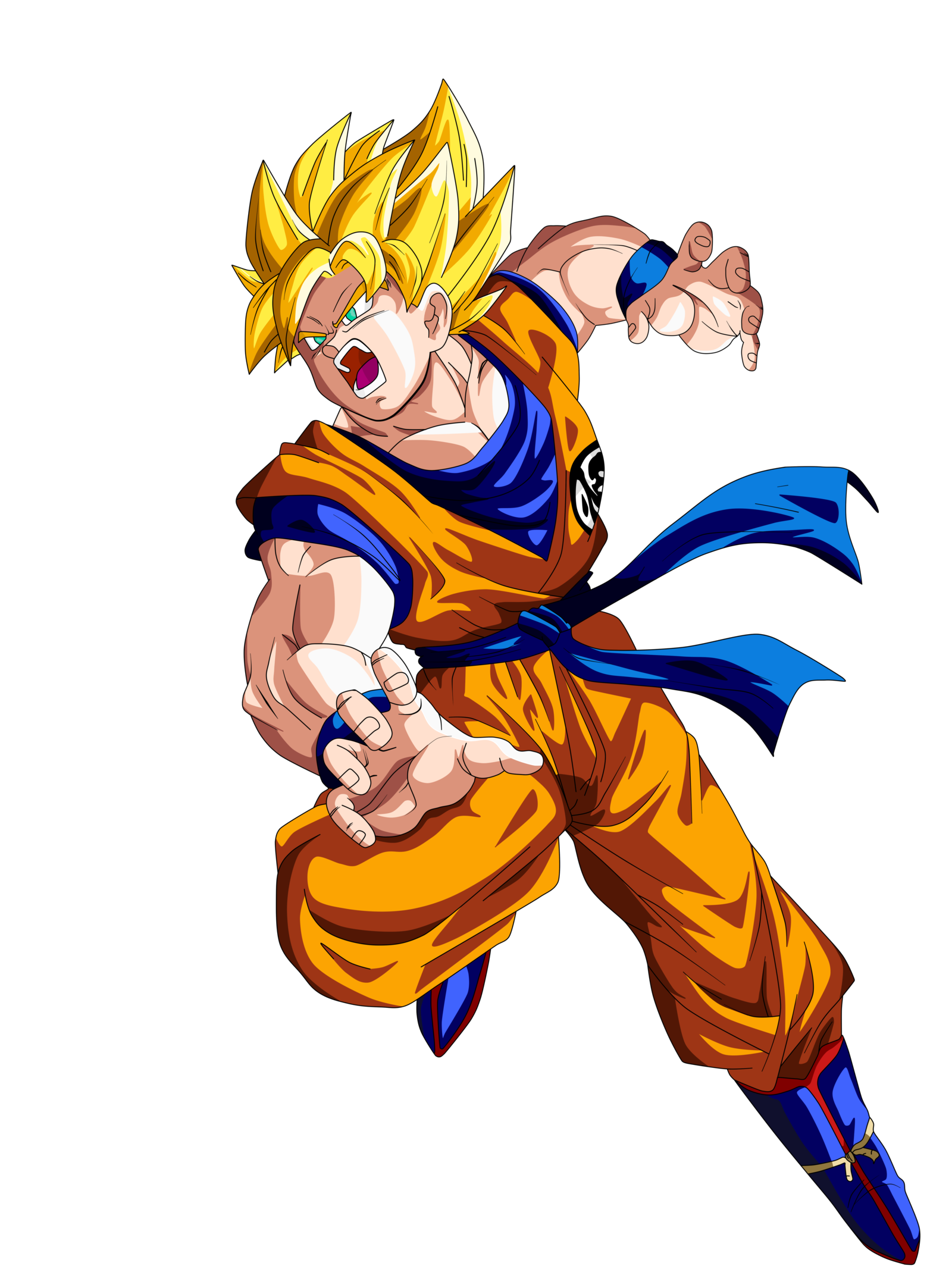 1600x2133 Goku Ssj By Supergoku37