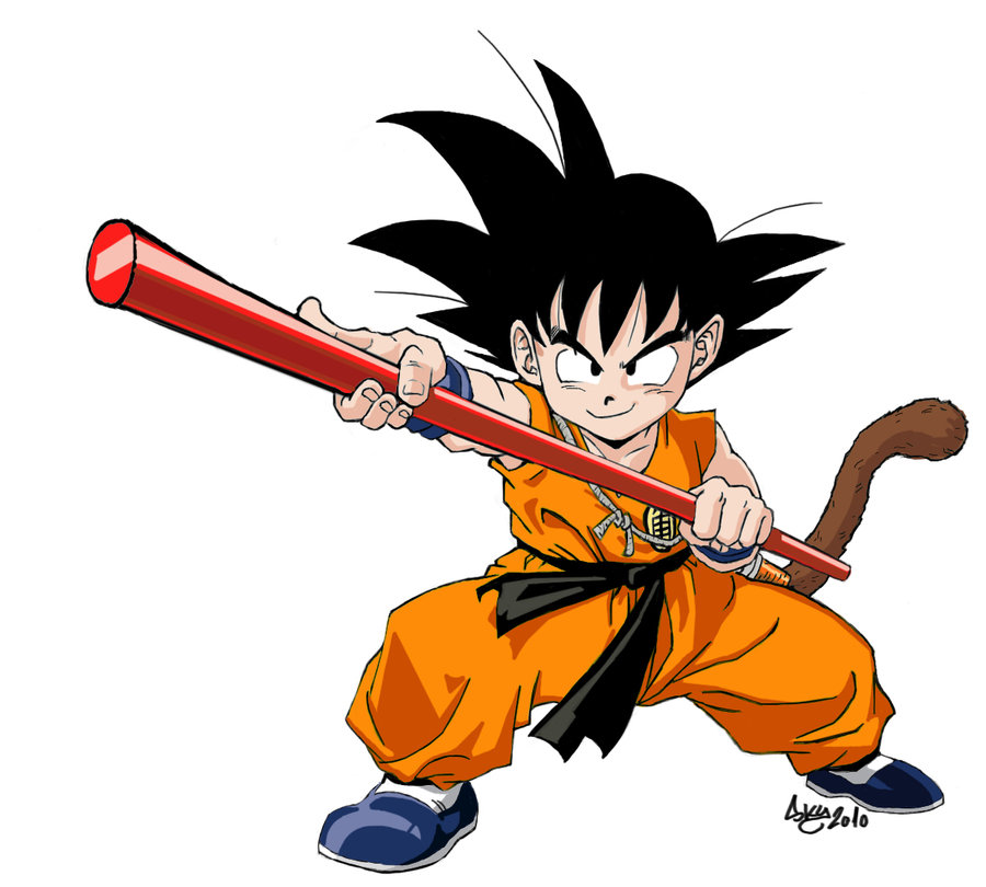 900x810 Kid Goku Coloured By Darksky666