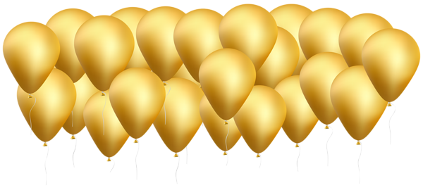 600x267 Gold Balloons Png Clip Art Imageu200b Gallery Yopriceville
