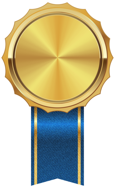 369x600 Gold Medal With Blue Ribbon Png Clipart Image Imprimibles