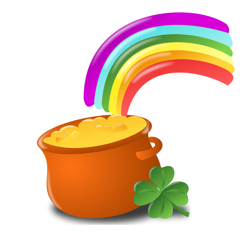 958x958 Pot of gold clipart free download clip art on