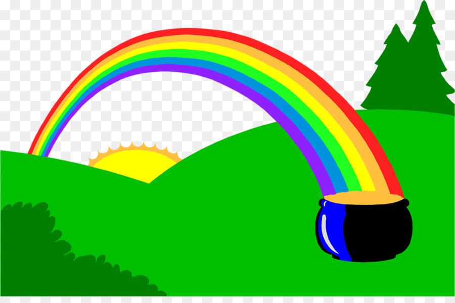 900x600 Rainbow Gold Leprechaun Clip art