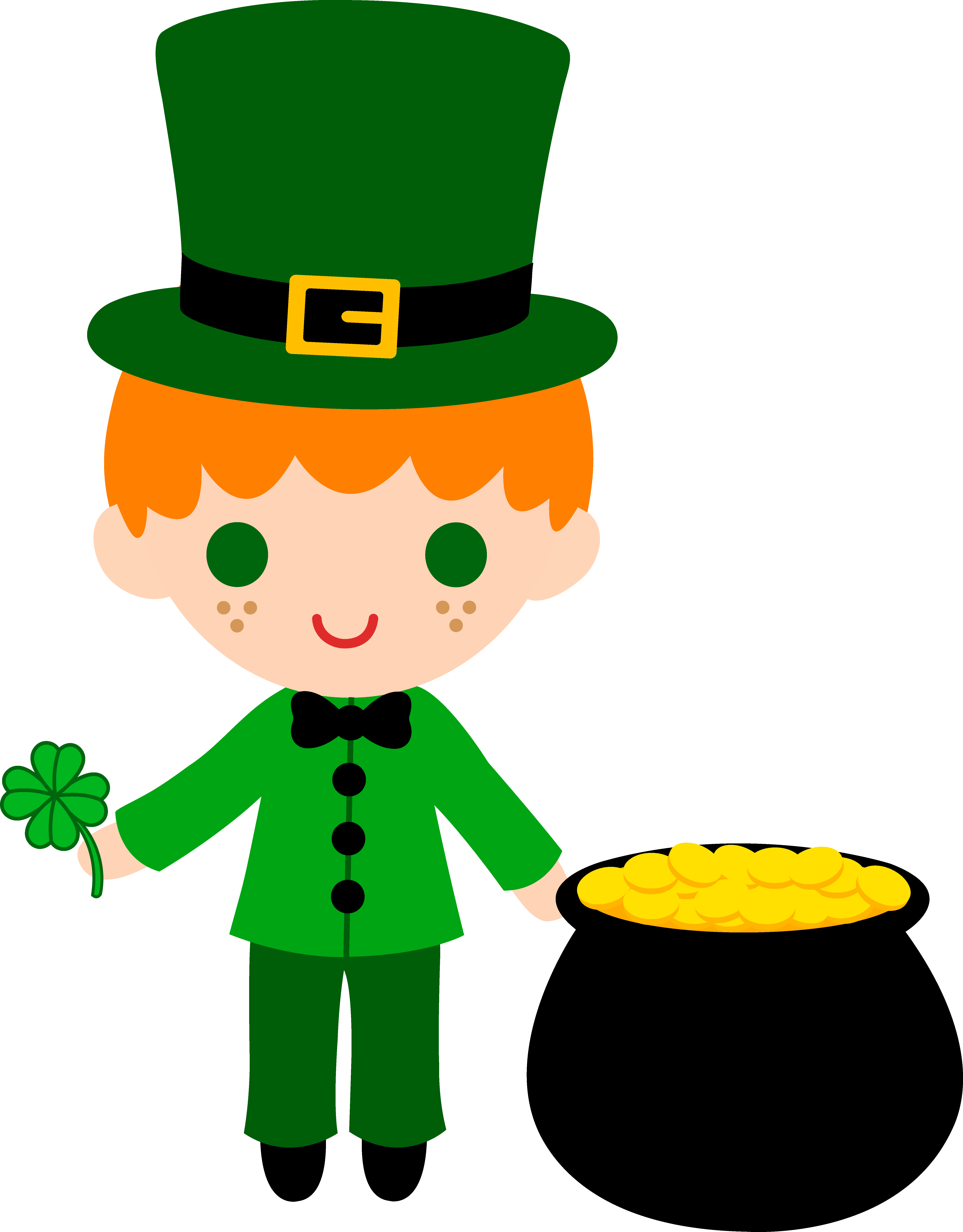 5504x7045 Stylish Design Leprechaun Clipart Boy With Pot Of Gold Free Clip