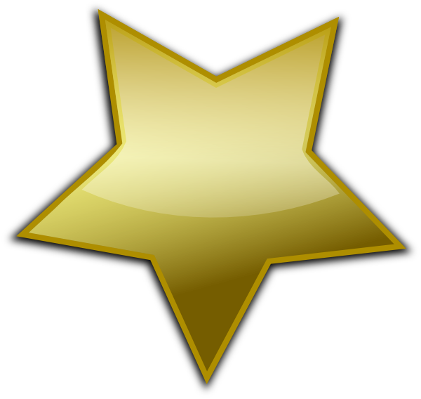 600x568 Gold Star Clipart Gold Star Clip Art