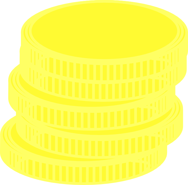 600x592 Gold Coins Clip Art