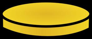 296x126 One Gold Coin Clip Art