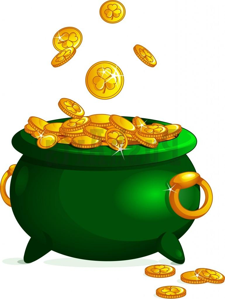 770x1024 Successful Pot Of Gold Picture Coins Free Clip Art