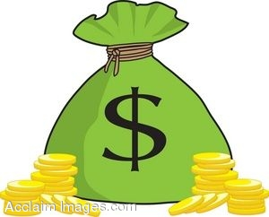 300x242 Clip Art Picture Of A Money Bag With Gold Coins