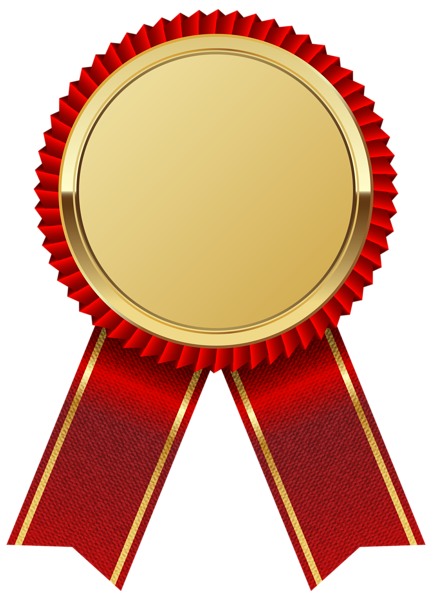 432x600 Gold Medal With Red Ribbon Png Clipart Image Png Frames Borders
