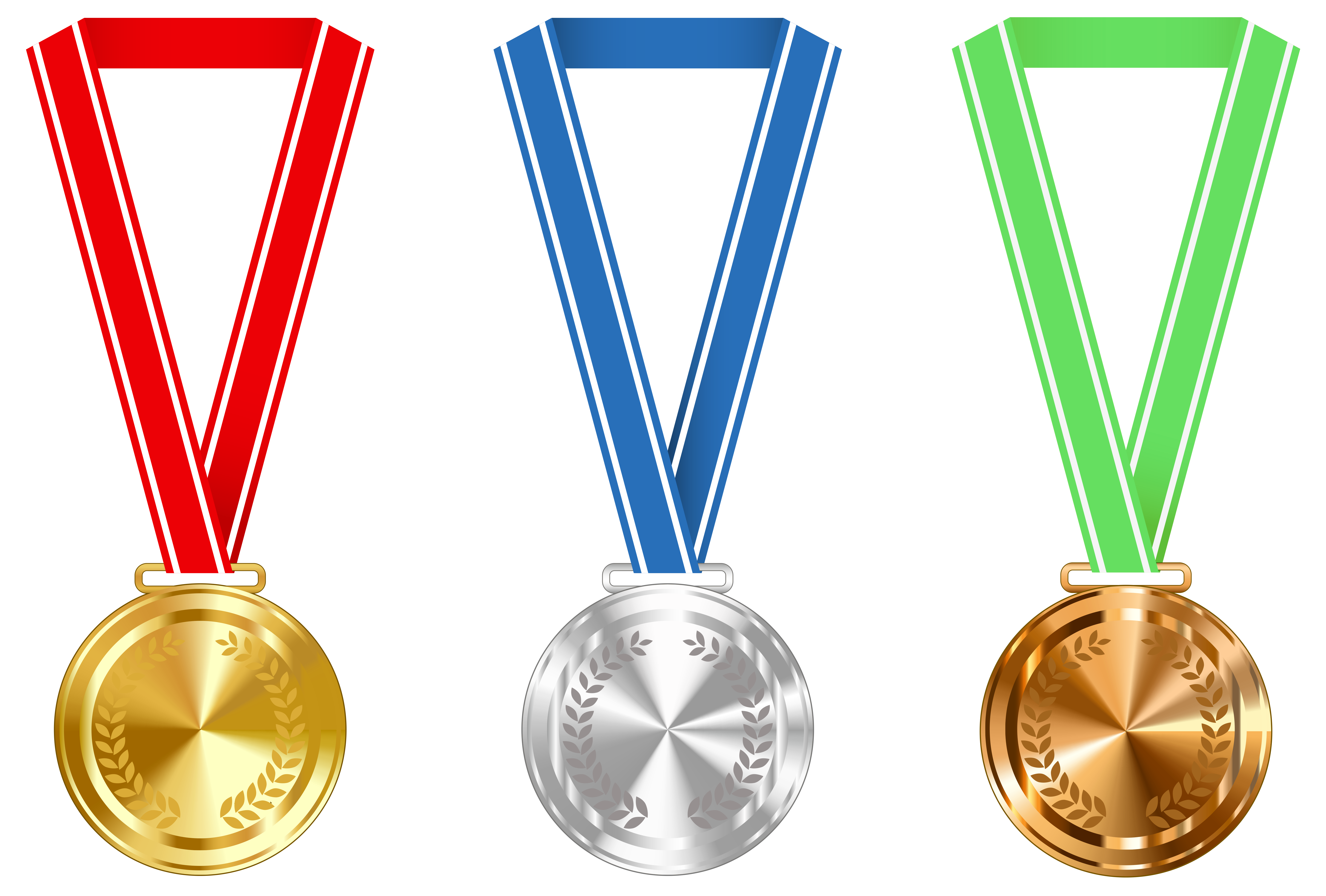 6166x4166 Gold Silver And Bronze Medals Png Clipart Imageu200b Gallery