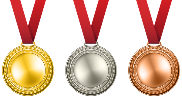 600x326 Medals Set Transparent Png Clip Art Image
