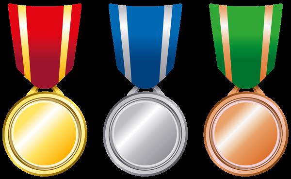 600x369 Transparent Gold Silver Bronze Medals Png Clipart