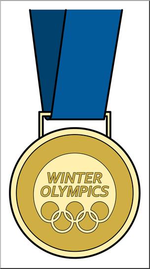 304x544 Clip Art Winter Olympics Medal Gold Bampw I Abcteach