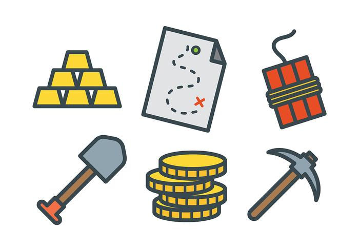 700x490 Gold Rush Vector Icons