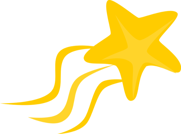 700x520 Gold Clipart Shooting Star