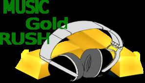 297x171 Music Gold Rush Logo Clip Art