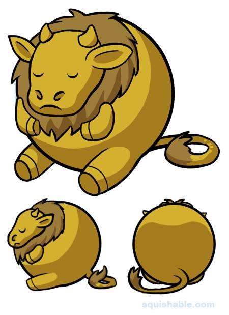 450x619 Squishable Golden Calf. An Adorable Fuzzy Plush