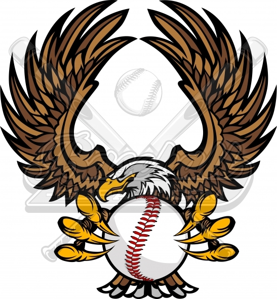 547x590 Eagle Baseball Clipart