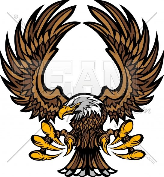 546x590 Eagle Clipart Mascot Graphic Vector Clipart Logo Art And Crafts
