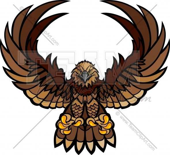 590x537 Hawk Wings And Claws Mascot Vector Clipart Image Apliques Para