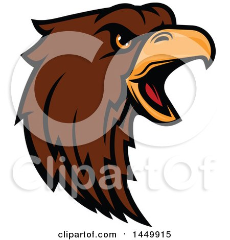 450x470 Royalty Free Vector Clip Art Illustration Of A Red Eagle Logo By