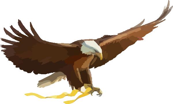 600x360 Soaring Eagle Clip Art