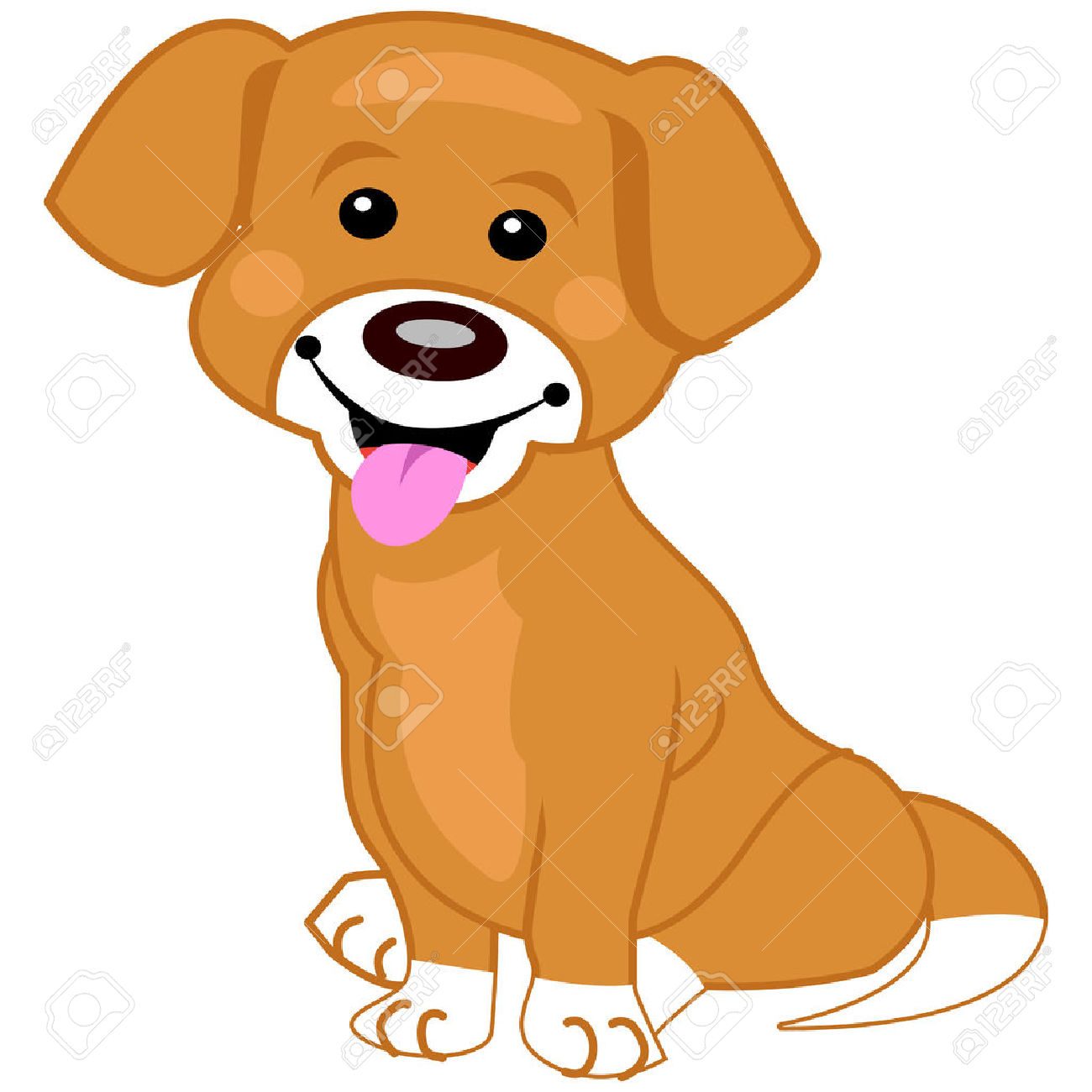 1300x1300 Golden Retriever Puppy Clip Art. Royalty Free Golden Retriever