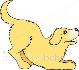 300x266 Golden Retriever Puppy Clipart Pet Clipart