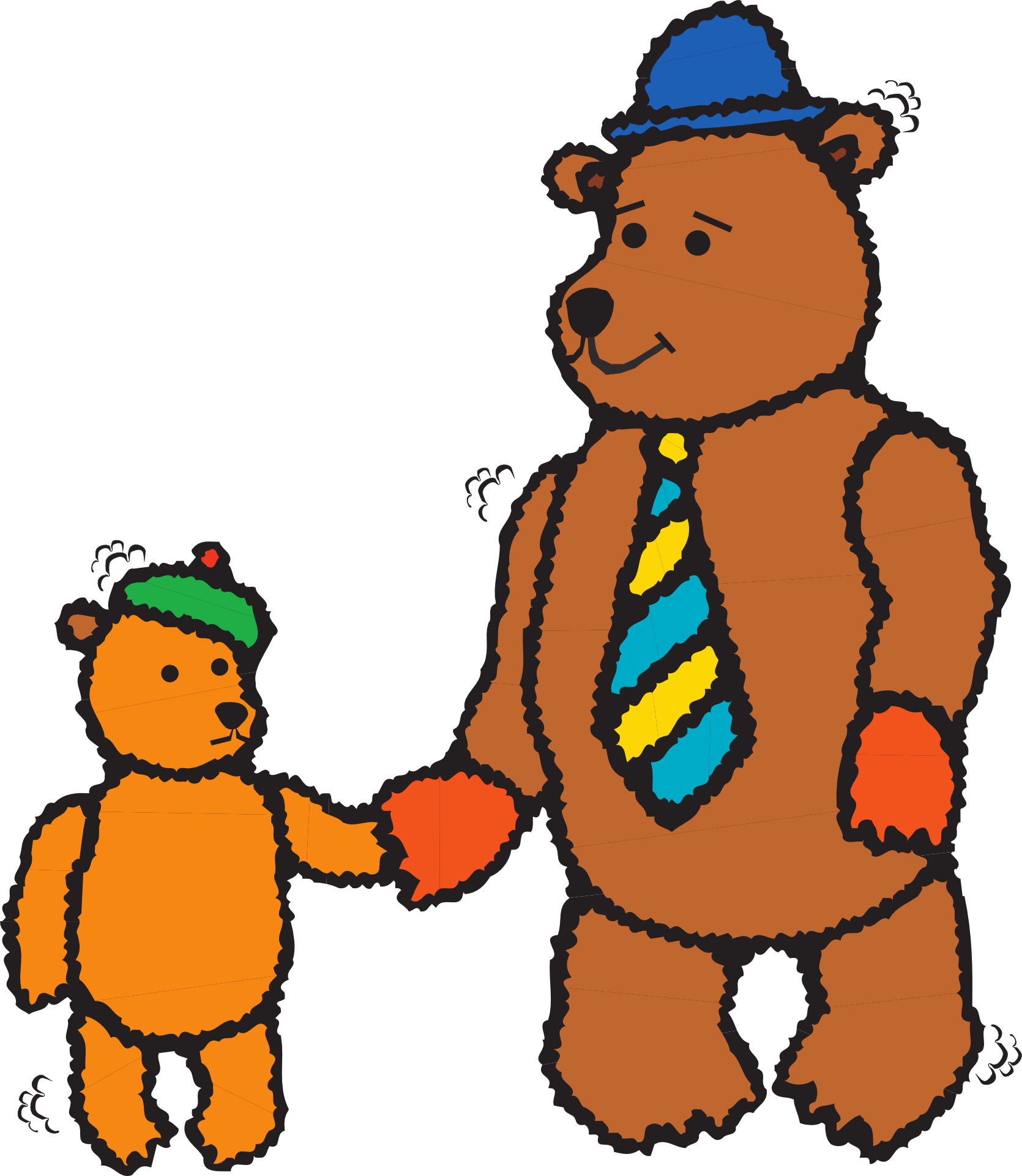 1670x1920 Goldilocks And The Three Bears Father's Day Clip Art