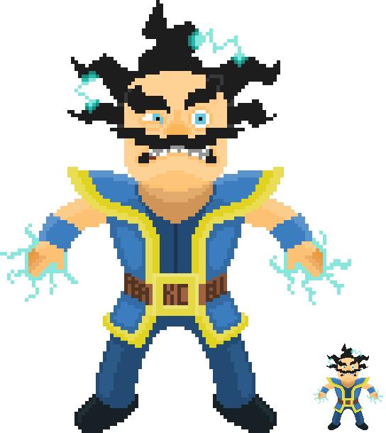 544x610 Art]hi Reddit, Here Is A Pixel Art Electro Wizard Clashroyale