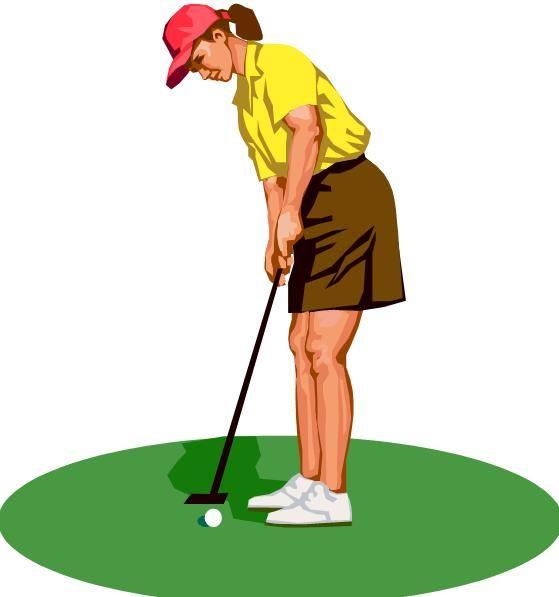 559x597 Girl Golf Clip Art