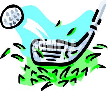 350x293 Golf Club Hitting A Ball Up Close