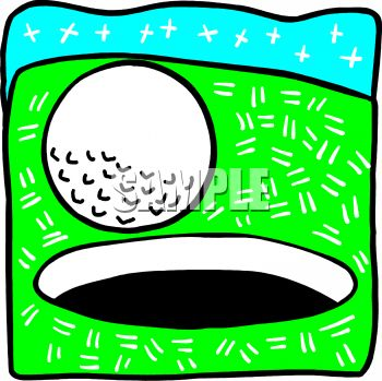 350x349 Royalty Free Clip Art Image Golf Ball Rolling Into The Hole