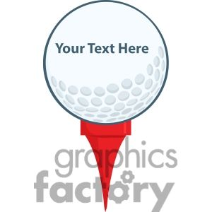 300x300 5696 Royalty Free Clip Art Golf Ball With Tee Golf