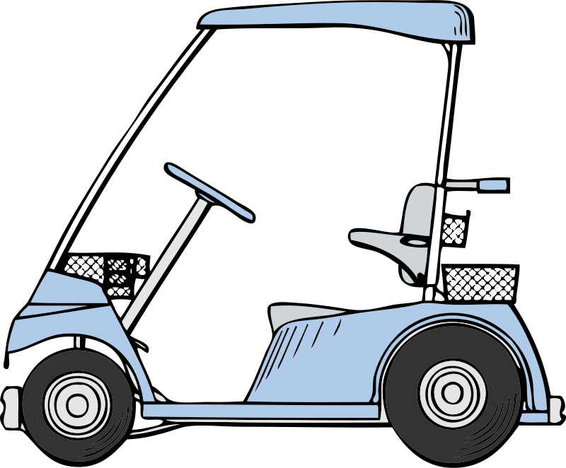 800x662 Free Clipart Golf Cart Johnny Automatic