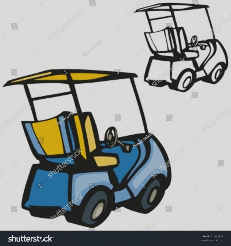 883x940 Gallery Golf Cart Clip Art White Vehicle Vector Image Royalty Free